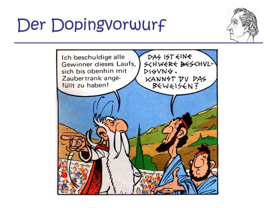 Der Dopingvorwurf
