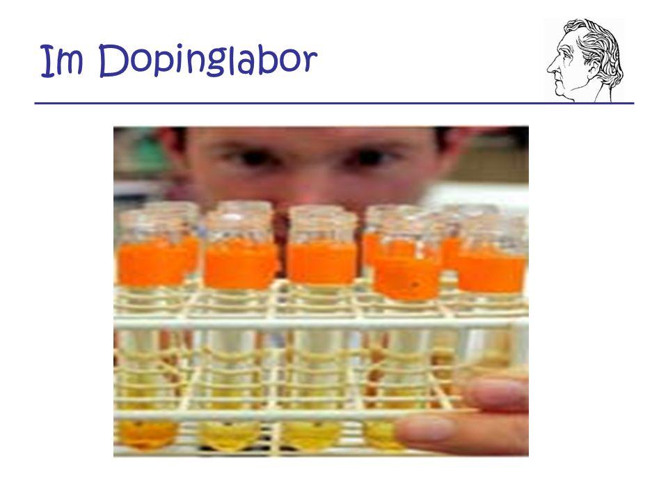 Im Dopinglabor