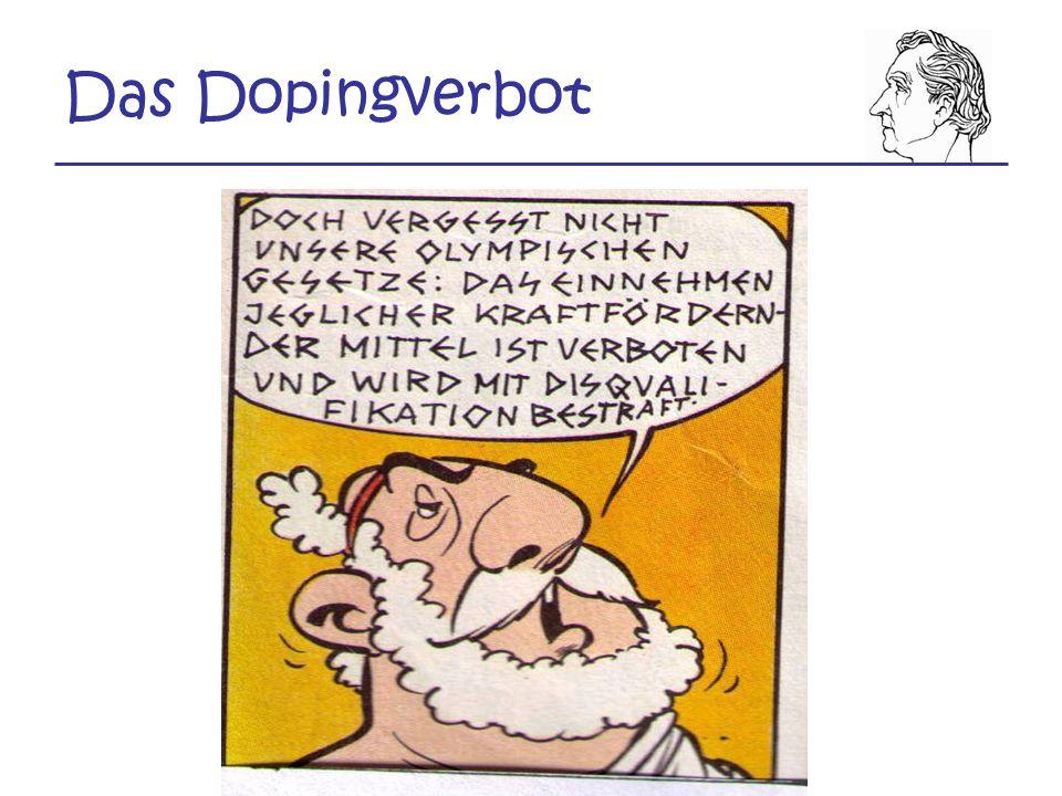 Das Dopingverbot