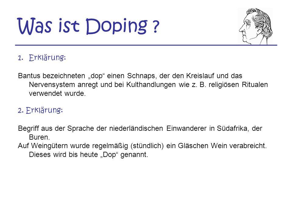 Die Dopingliste 1.