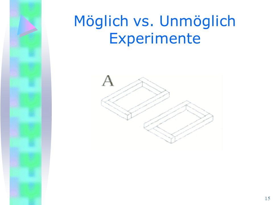 15 Möglich vs. Unmöglich Experimente