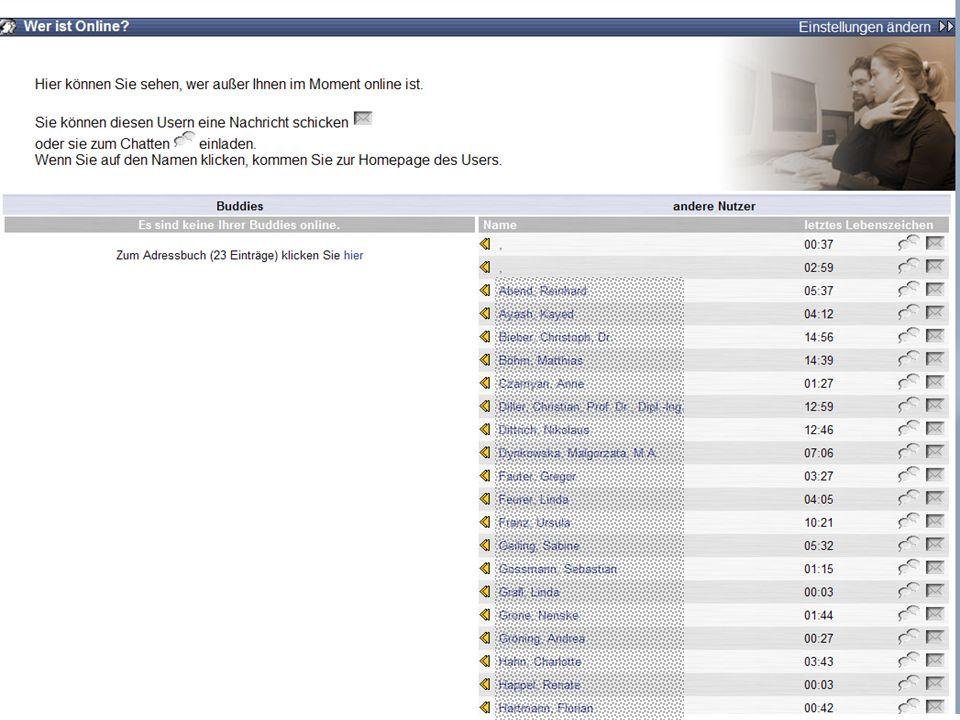 Tag der offenen Türen - 20. Oktober 2007 Screenshot: Online-Liste