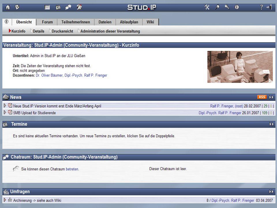 Tag der offenen Türen - 20. Oktober 2007 Screenshot: Veranstaltung
