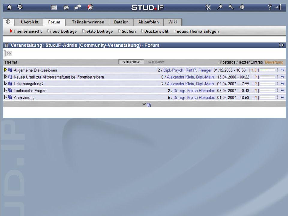 Tag der offenen Türen - 20. Oktober 2007 Screenshot: Forum