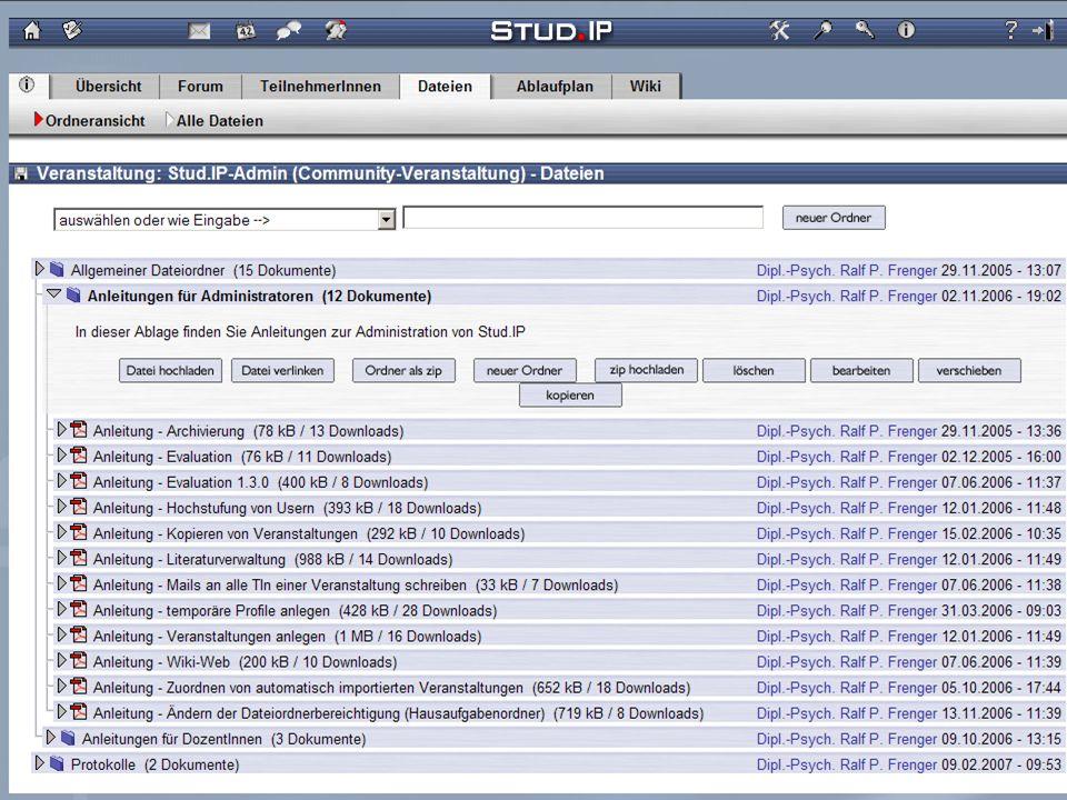 Tag der offenen Türen - 20. Oktober 2007 Screenshot: Dateien