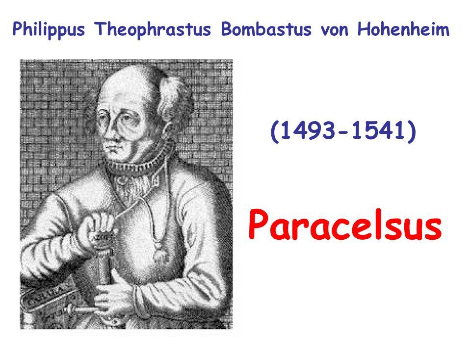 (1493-1541) Philippus Theophrastus Bombastus von Hohenheim Paracelsus