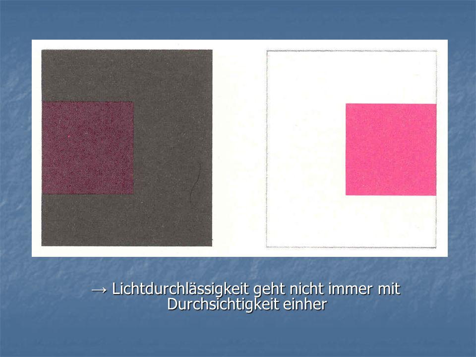 1. Figurale Einheit der durchsichtigen Schicht: 1. Figurale Einheit der durchsichtigen Schicht: