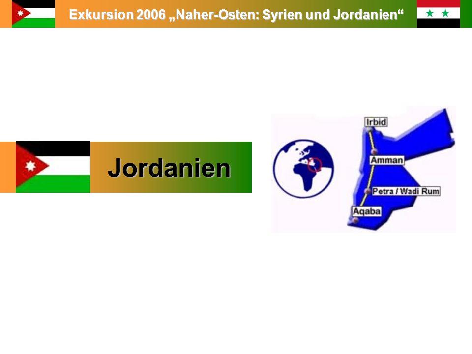 Exkursion 2006 Naher-Osten: Syrien und Jordanien Jordanien