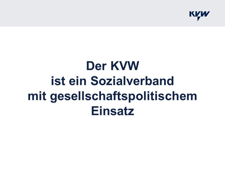 Der KVW ist ein Sozialverband mit gesellschaftspolitischem Einsatz