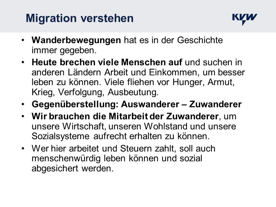 Migration verstehen Wanderbewegungen hat es in der Geschichte immer gegeben. Heute brechen viele Menschen auf und suchen in anderen Ländern Arbeit und