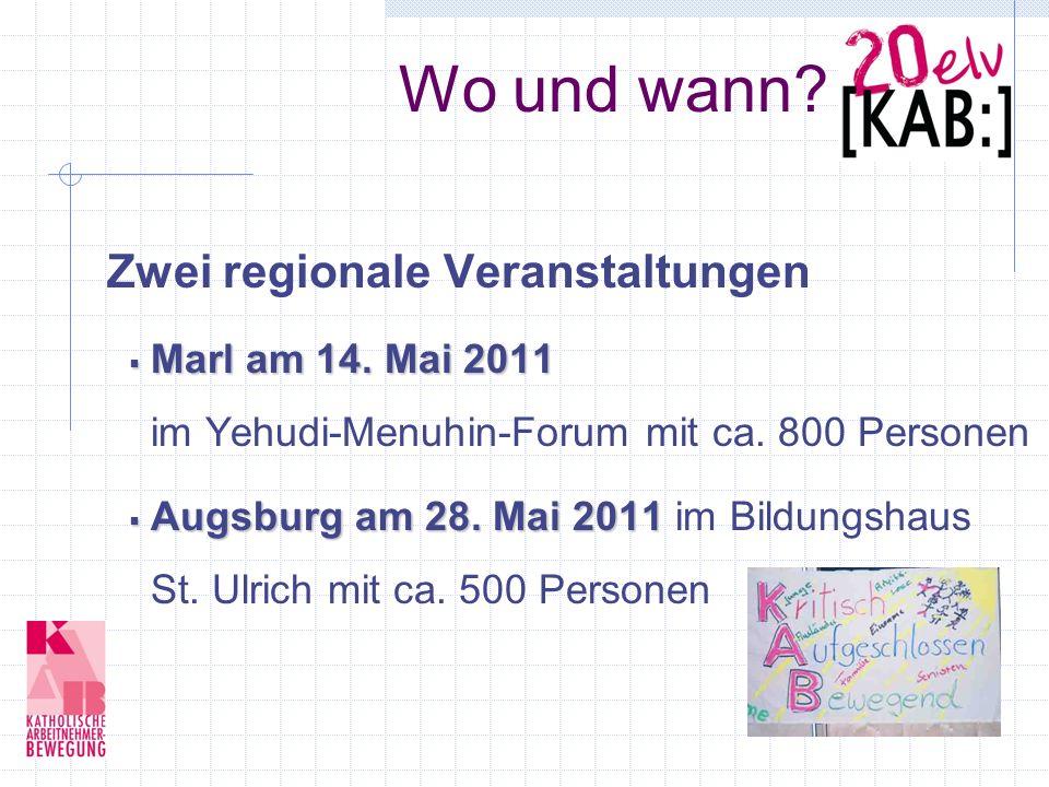 Wo und wann. Zwei regionale Veranstaltungen Marl am 14.