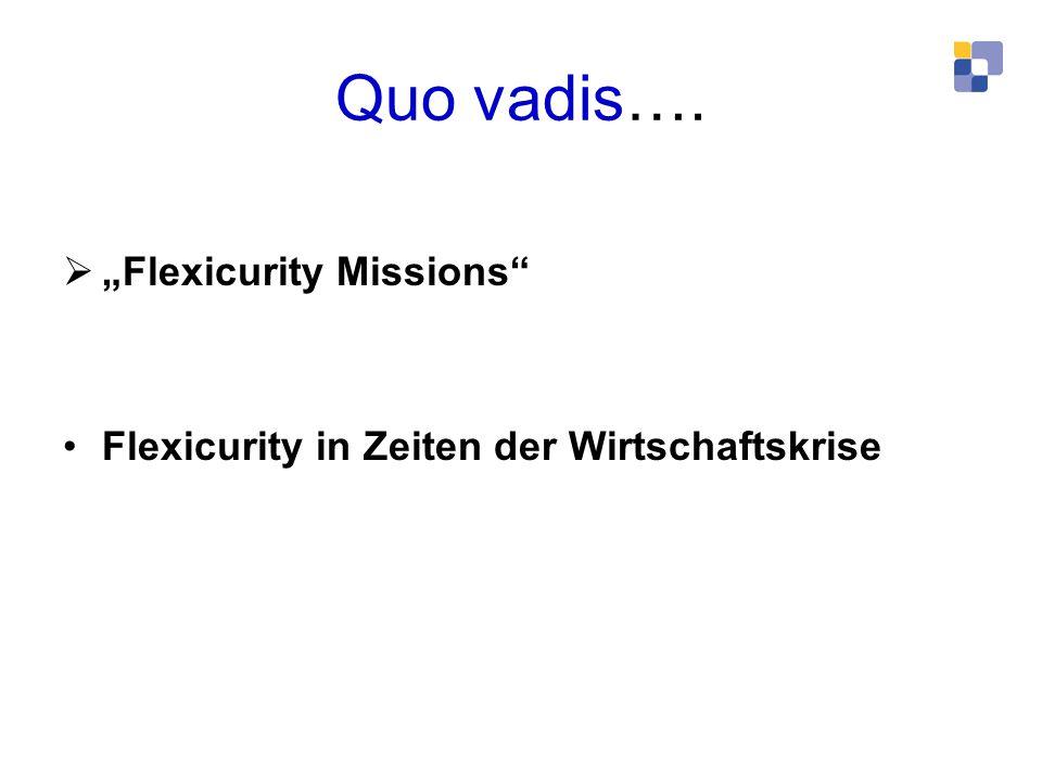 Quo vadis…. Flexicurity Missions Flexicurity in Zeiten der Wirtschaftskrise