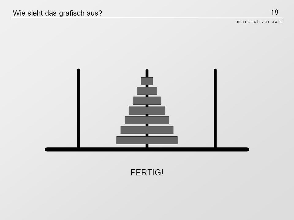 18 m a r c – o l i v e r p a h l Wie sieht das grafisch aus? FERTIG!