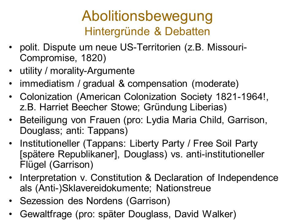 Abolitionsbewegung / histor.Hintergrund: territoriale Expansion der USA 26,660 have donated.