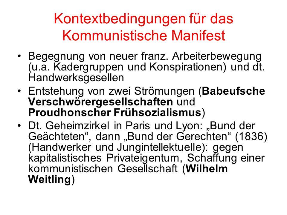 Frankreich & Deutschland Julirevolution 1830: Reaktion der Massen (haupts. Handwerker; Verlagssystem Franz. Bourgeoisie bedient sich dem Aufstand der