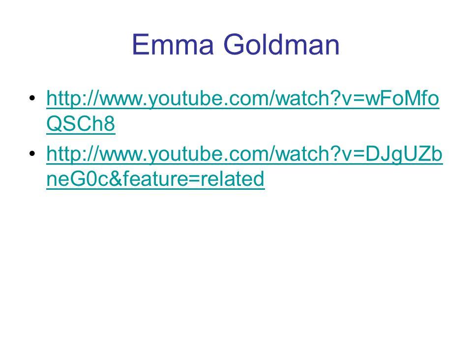 Gruppenarbeit: Manifest, Bakunin, Goldman Beschreiben Sie die den Quellen zugrundeliegenden Weltanschauungen (Selbst- /Fremdbilder, Ziele, Mittel, Org