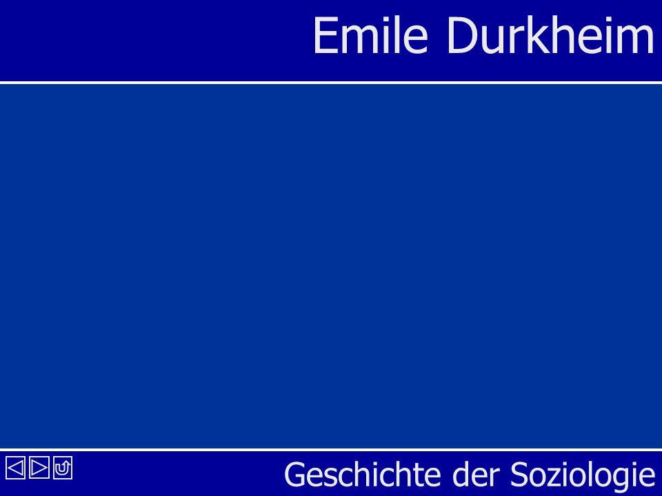 Geschichte der Soziologie Emile Durkheim