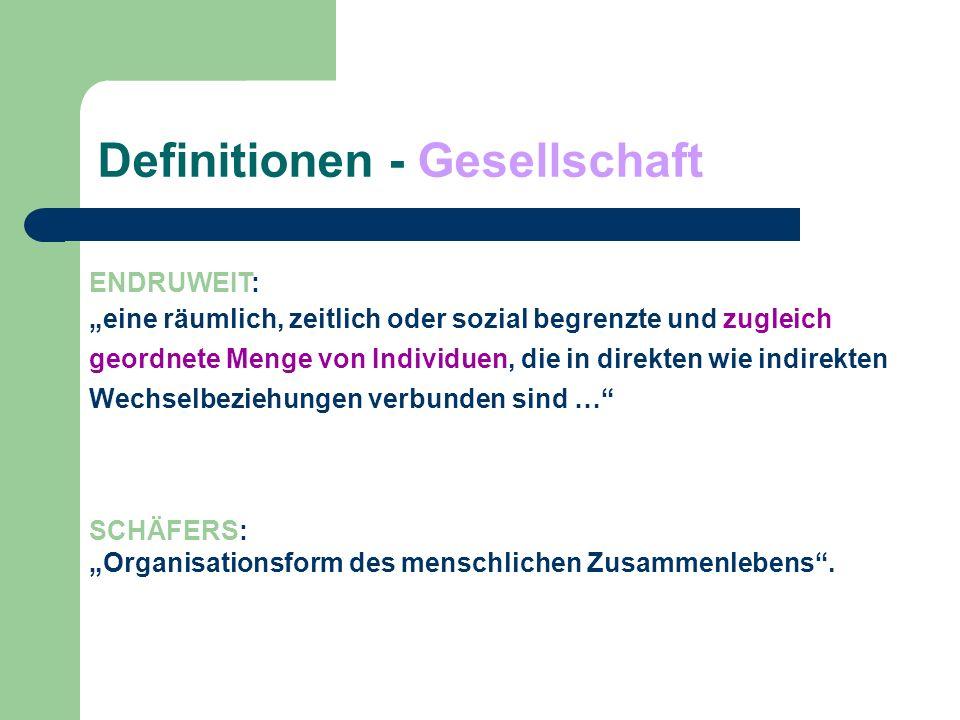 Definitionen - Sozialstruktur Struktur (lat.