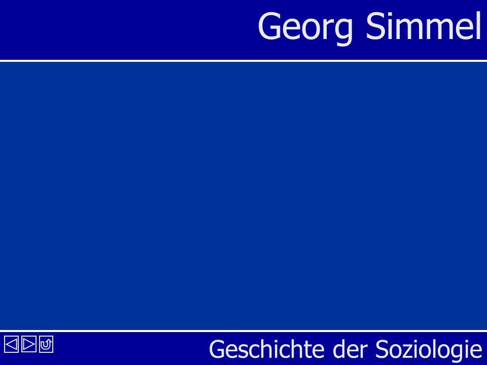 Geschichte der Soziologie Georg Simmel