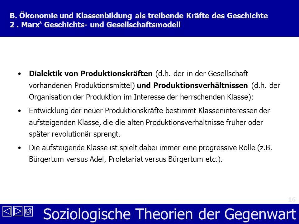 Soziologische Theorien der Gegenwart 16 B.