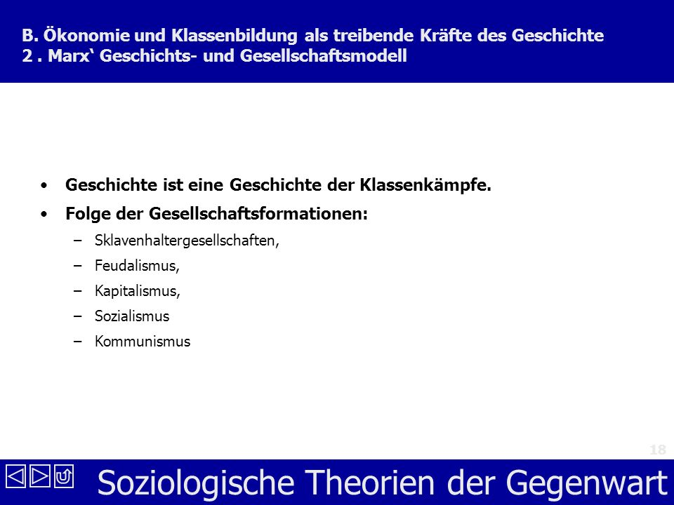 Soziologische Theorien der Gegenwart 18 B.