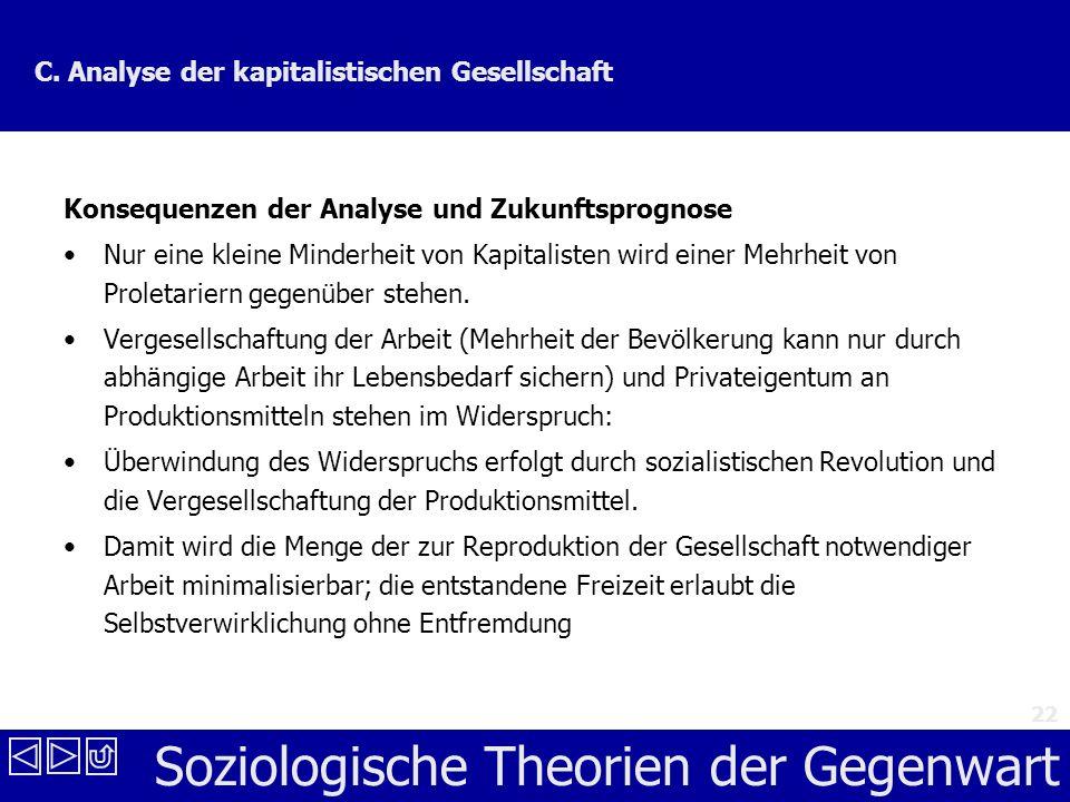 Soziologische Theorien der Gegenwart 22 C.