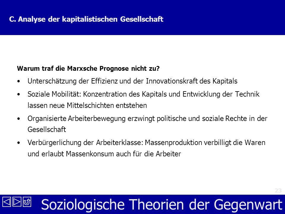 Soziologische Theorien der Gegenwart 23 C.