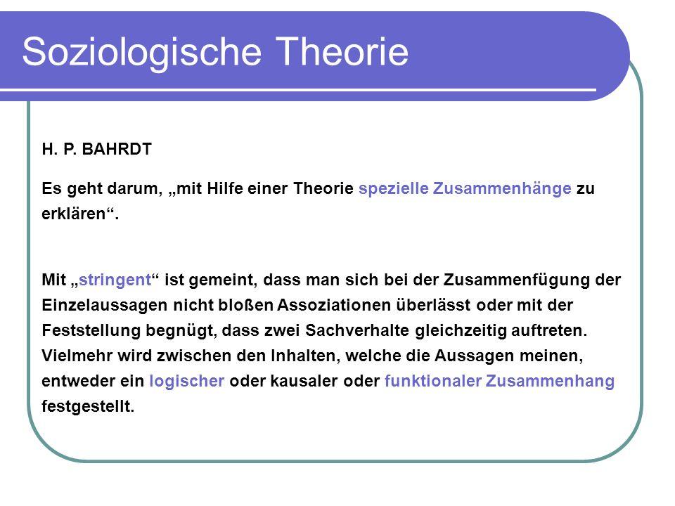 Soziologische Theorie H.P.
