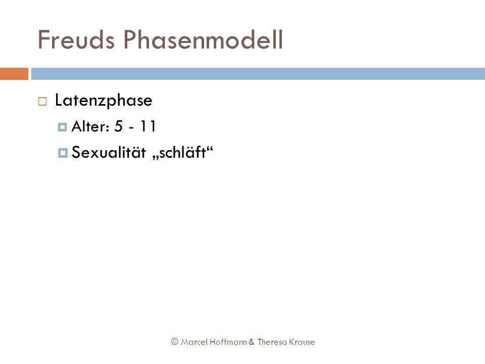 Freuds Phasenmodell Latenzphase Alter: 5 - 11 Sexualität schläft © Marcel Hoffmann & Theresa Krause