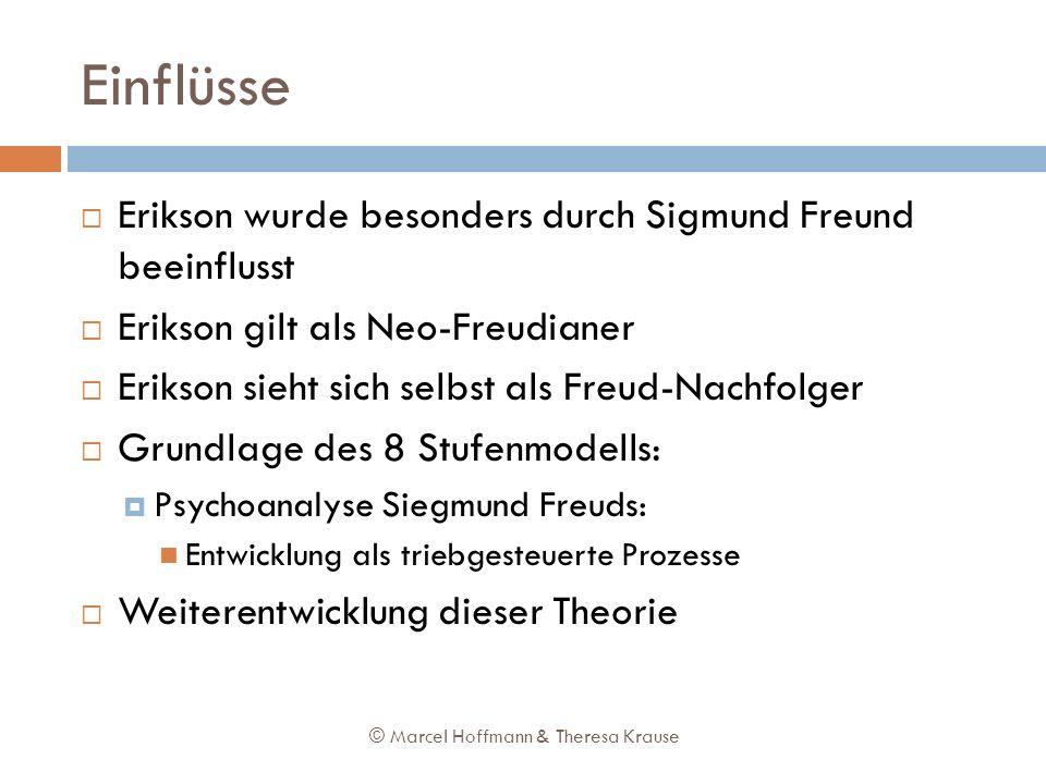 Einflüsse Erikson wurde besonders durch Sigmund Freund beeinflusst Erikson gilt als Neo-Freudianer Erikson sieht sich selbst als Freud-Nachfolger Grun