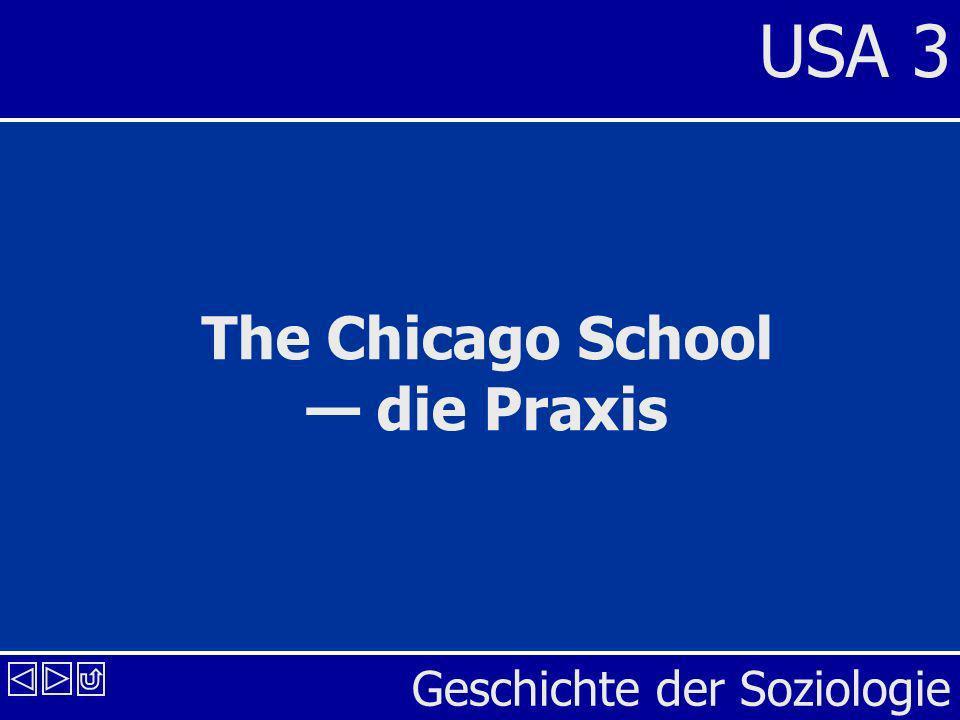 Geschichte der Soziologie USA 3 The Chicago School die Praxis