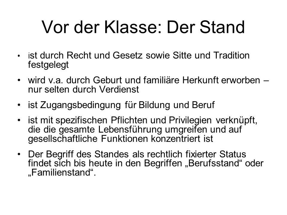 Feudale Ständeordnung im Mittelalter Quelle: Hradil 2001, S.111 Soziale Ungleichheit gilt als gottgegeben, natürlich und unveränderlich.