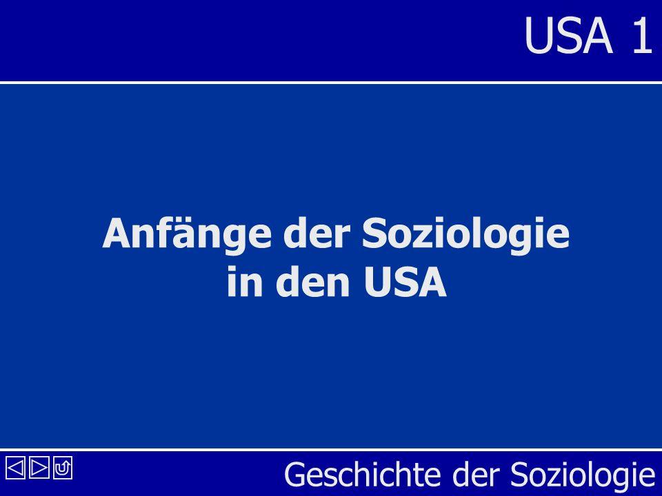 Geschichte der Soziologie USA 1 Anfänge der Soziologie in den USA