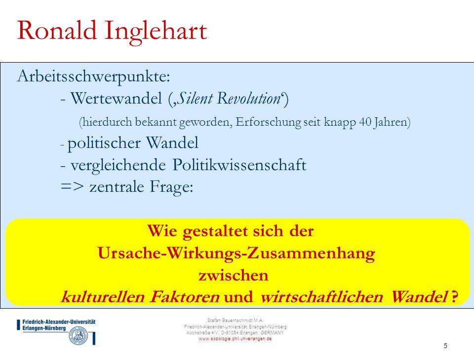 5 Stefan Bauernschmidt M.A. Friedrich-Alexander-Universität Erlangen-Nürnberg Kochstraße 4/V, D-91054 Erlangen, GERMANY www.soziologie.phil.uni-erlang
