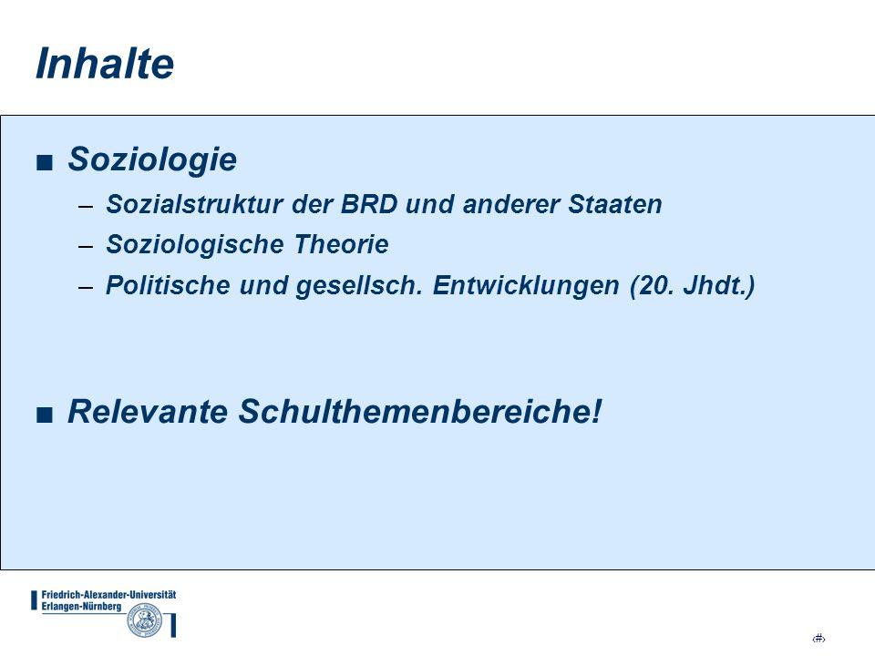 18 Inhalte der Module HS: SOZIALSTRUKTUR II (Aufbaumodul) Unter Berücksichtigung der Kontinuitätslinien seit dem 18./ 19.