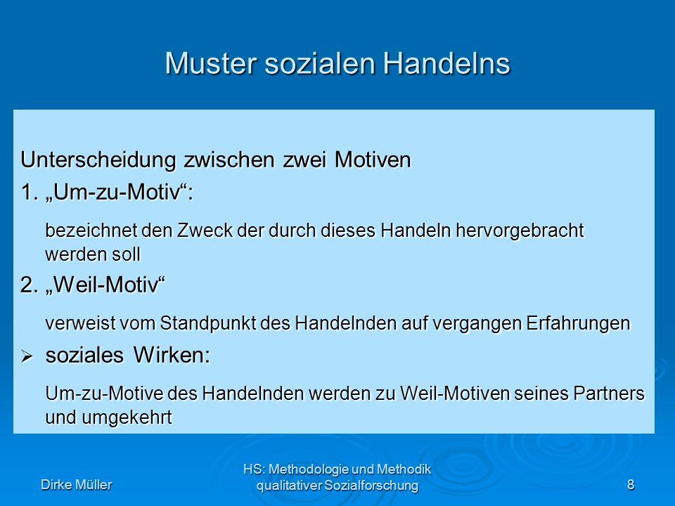 Dirke Müller HS: Methodologie und Methodik qualitativer Sozialforschung19 Quelle: Durkheim, 1973