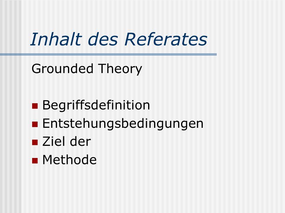 Grounded Theory Eine prominente Strategie qualitativer Sozialforschung Institut für Soziologie Referat im Rahmen des Hauptseminars Methodologie und Me