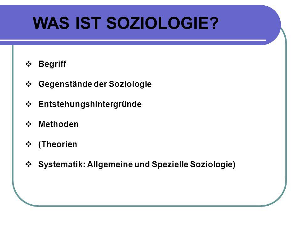 KORTE/SCHÄFERS 2008 Soziologie ist die Wissenschaft von der sozialen Wirklichkeit .