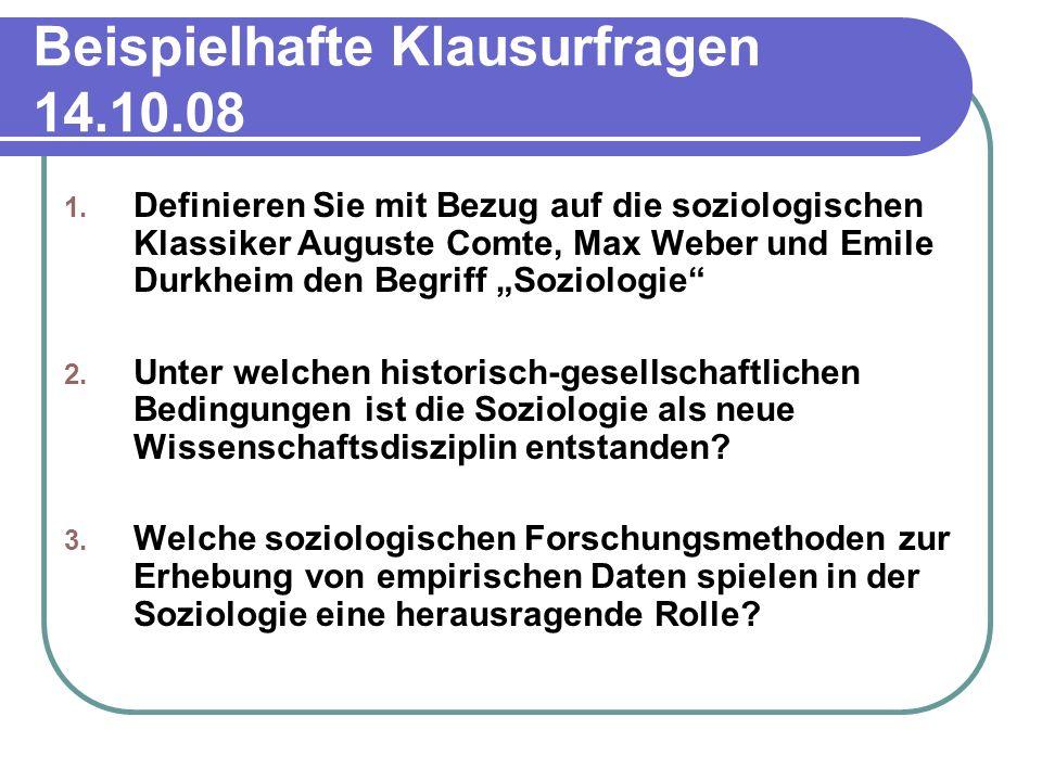 Beispielhafte Klausurfragen 14.10.08 1.