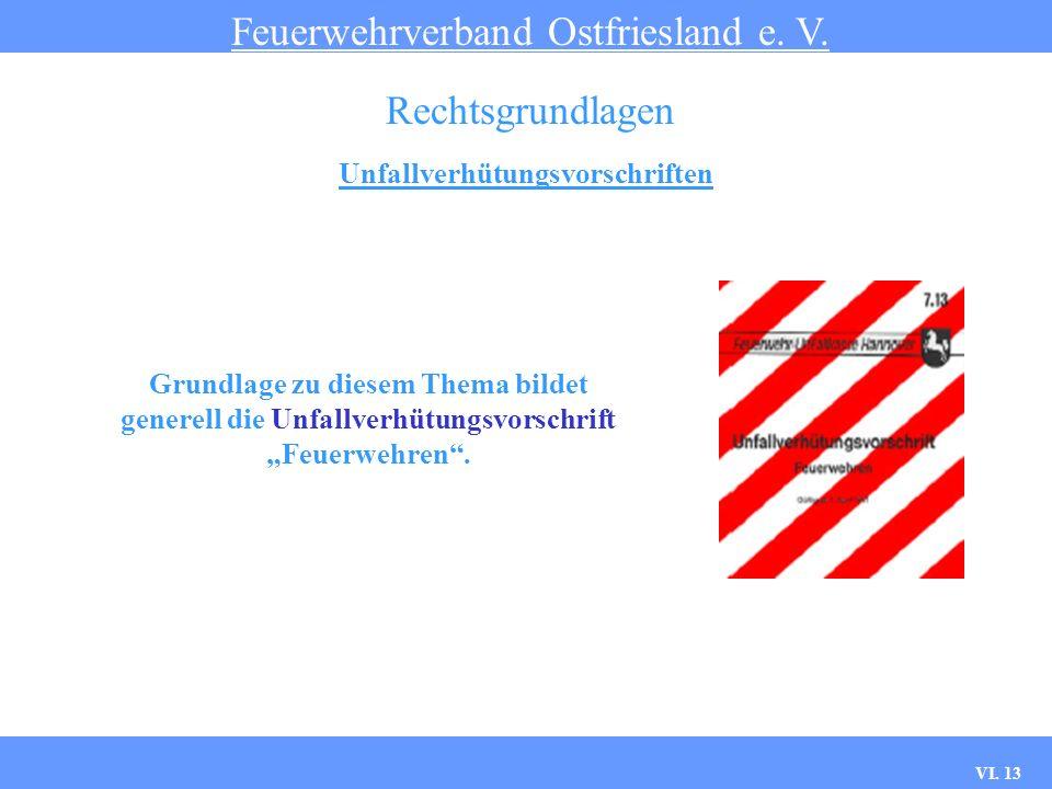 VI. 12 Straßenverkehrsrecht Feuerwehrverband Ostfriesland e. V. Rechtsgrundlagen Verhalten bei einem Unfall mit einem Einsatzfahrzeug Skizze/Foto von