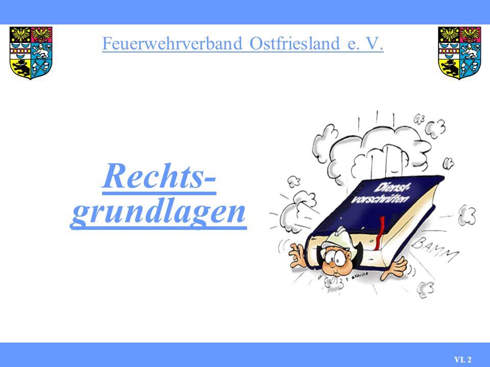 Feuerwehrverband Ostfriesland e. V. Die Ausbildung zum Maschinisten VI. 1