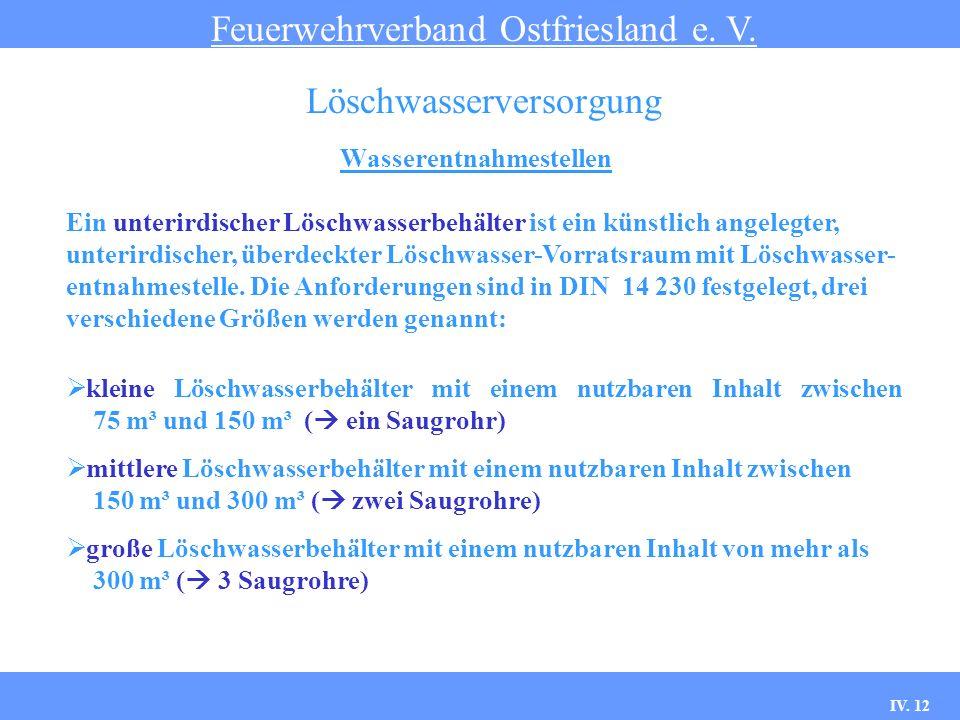 IV.12 Wasserentnahmestellen Feuerwehrverband Ostfriesland e.