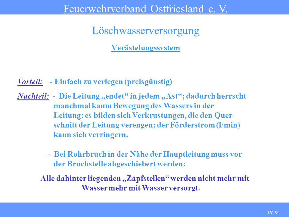 IV.10 Zentrale Wasserversorgung Feuerwehrverband Ostfriesland e.