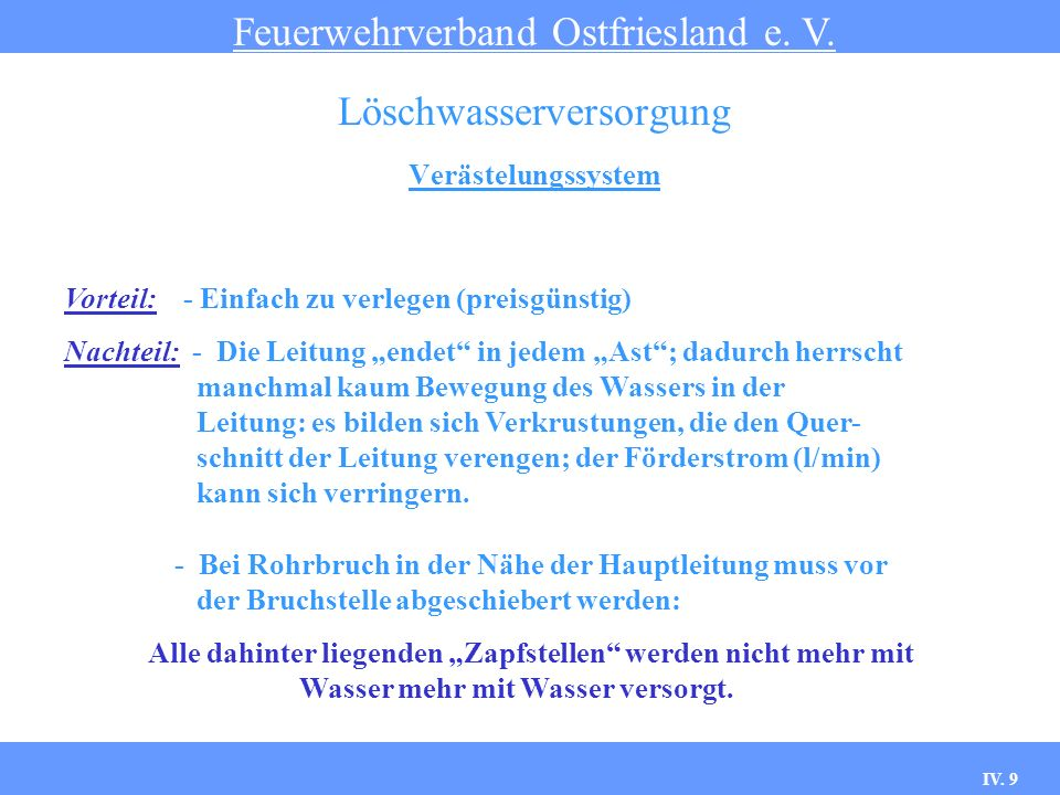 IV.20 Hydranten Feuerwehrverband Ostfriesland e. V.