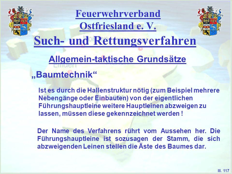 Feuerwehrverband Ostfriesland e. V. Such- und Rettungsverfahren Baumtechnik Allgemein-taktische Grundsätze III. 117 Ist es durch die Hallenstruktur nö