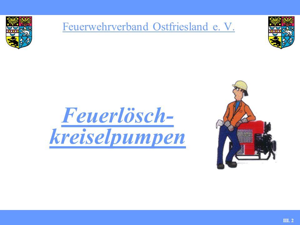 Feuerwehrverband Ostfriesland e. V. III. 2 Feuerlösch- kreiselpumpen