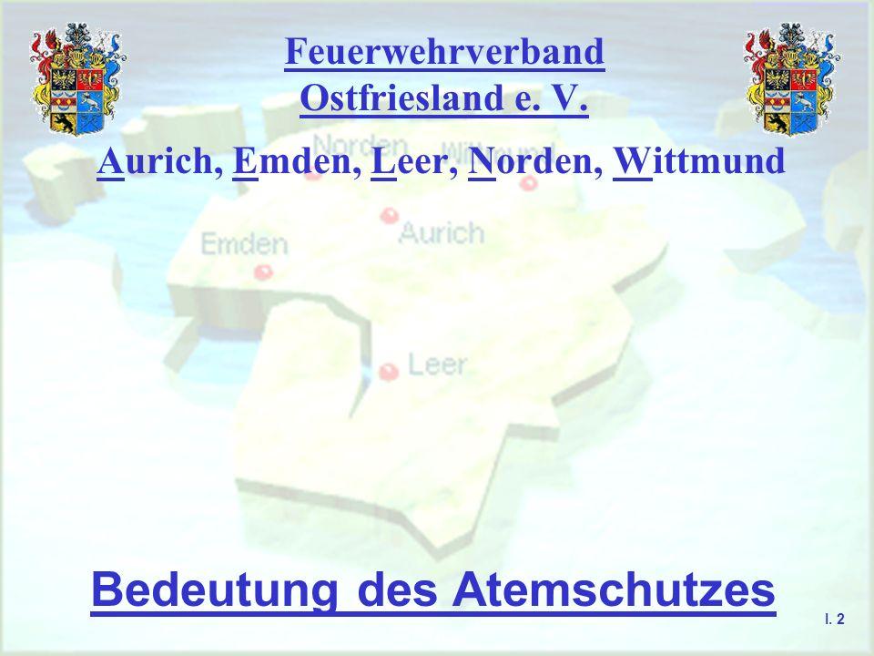 Feuerwehrverband Ostfriesland e. V. Aurich, Emden, Leer, Norden, Wittmund Bedeutung des Atemschutzes I. 2