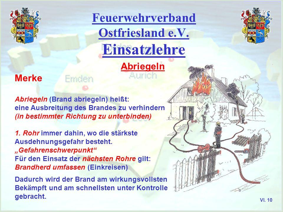 Feuerwehrverband Ostfriesland e.V. Aurich, Emden, Leer, Wittmund VI. 9