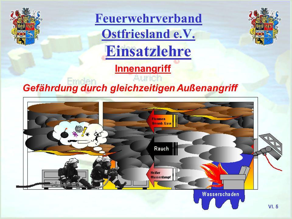 Feuerwehrverband Ostfriesland e.V. Einsatzlehre Innenangriff offensiver Löschangriff direkter Angriff VI. 4