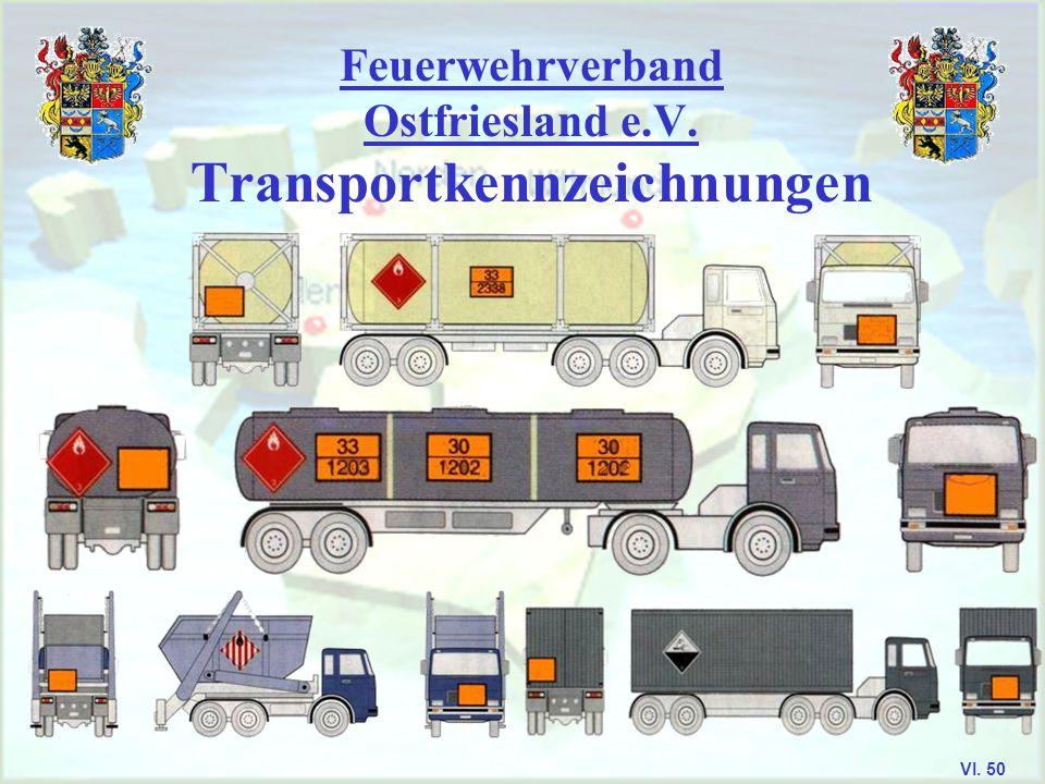 Feuerwehrverband Ostfriesland e.V. Die Gefahrnummern Kann die Gefahr durch eine Ziffer beschrieben werden, so wird eine 0 angehängt Verdoppelung der Z